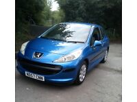 PEUGEOT 207 1.4 PETROL MOT TILL JULY 2019 NO ADVISORIES NEW TIMING BELT FITTED
