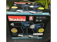 Makita DK18015X2 combi drill and Impact driver - New!!