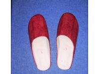 Cherry red embossed leather Moroccan slippers - size 5