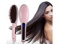 Brand New LCD Digital Control Brush Hair Straightener Comb
