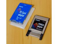 Epson brand PCMCIA adaptors ( adapter ) - Sony Memory Stick & Compact Flash available