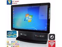 "RM All In One AIO PC Intel CORE 2 DUO 2.93GHZ 4gb ram 19"" screen WINDOWS7 OFFICE.160GB HD"