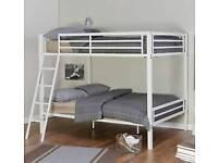 Next girls white metal bunk beds