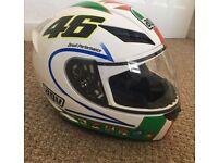 Small motorbike helmet. Never worn.
