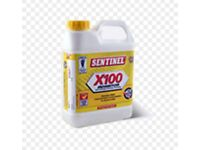 Sentinel x100 inhibitor and x300 central heating cleaner
