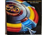Vintage Vinyl ELO LP Out of the blue ( in blue vinyl )