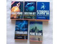 Set of 5 Alex Rider books by Anthony Horowitz