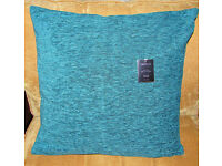 Cushion Covers, Chenille, Blue, Green, Purple Mix, x4, New