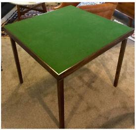 Vintage wooden folding Poker/ Bridge table