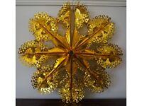 Gold Hanging Foil Circular Decoration
