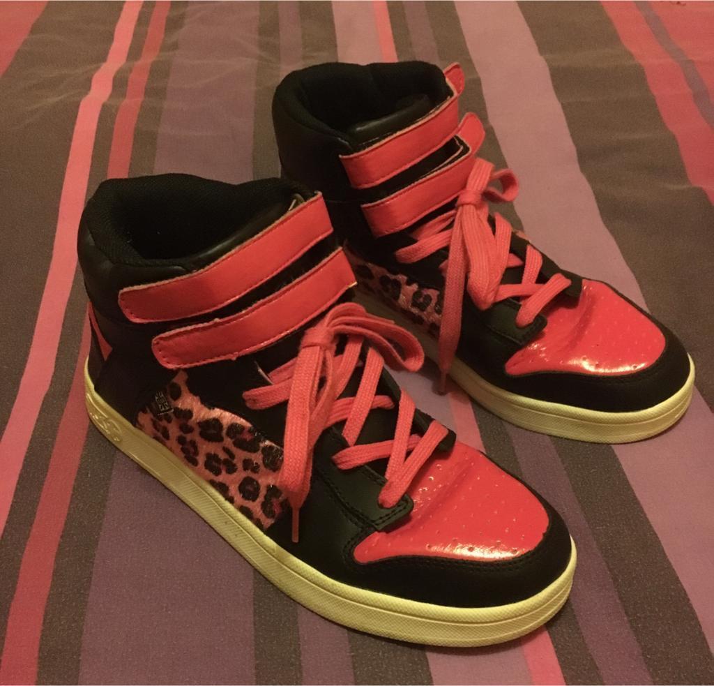 tuk pink leopard print hi-tops