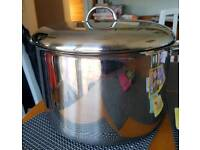 Cooking pot huge stainless steel