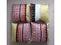 4 x Scatter Box Carnival Sunrise Feather Filled Cushion, Multicolour