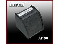 MEDELI AP-30 Electronic Drum Monitor 30 watt Amplifier 2 inputs excellent item