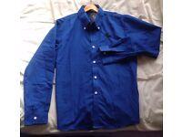 VSKA Bold Blue Stylish Designer shirt - Mens UK M Slim FIt.