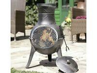 Cast Iron Chiminea Garden Patio Heater Log Burner Fire pit