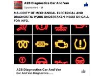 A2B DIAGNOSTICS CAR AND VAN /MOBILE MECHANIC GARAGE VEHICLES JUMP START SERVICE OIL BRAKES FILTERS