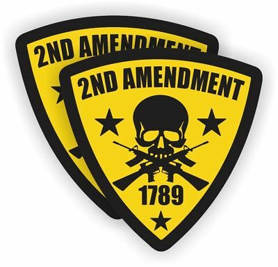 BEST OF 2nd Amendment Hard Hat Sticker Motorcycle Welder Helmet Decals