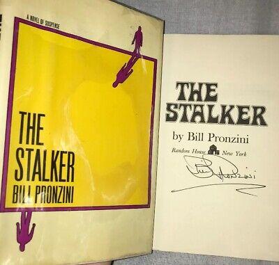 SIGNED Bill Pronzini Autographed Book The Stalker 1st Novel First Edition HC DJ