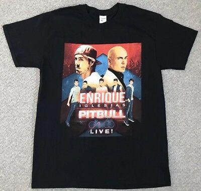 Enrique Iglesias /& Pitbull Live Tour Dates 2017 Men/' T-shirt Black
