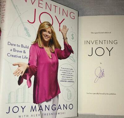 SIGNED Joy Mangano Autographed Book Inventing Joy First Edition HSN Star HC DJ