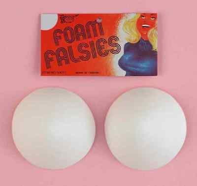 Foam Falsies Fake Breast Boobs Fancy Dress Halloween Adult Costume Accessory](Halloween Fake Boobs)