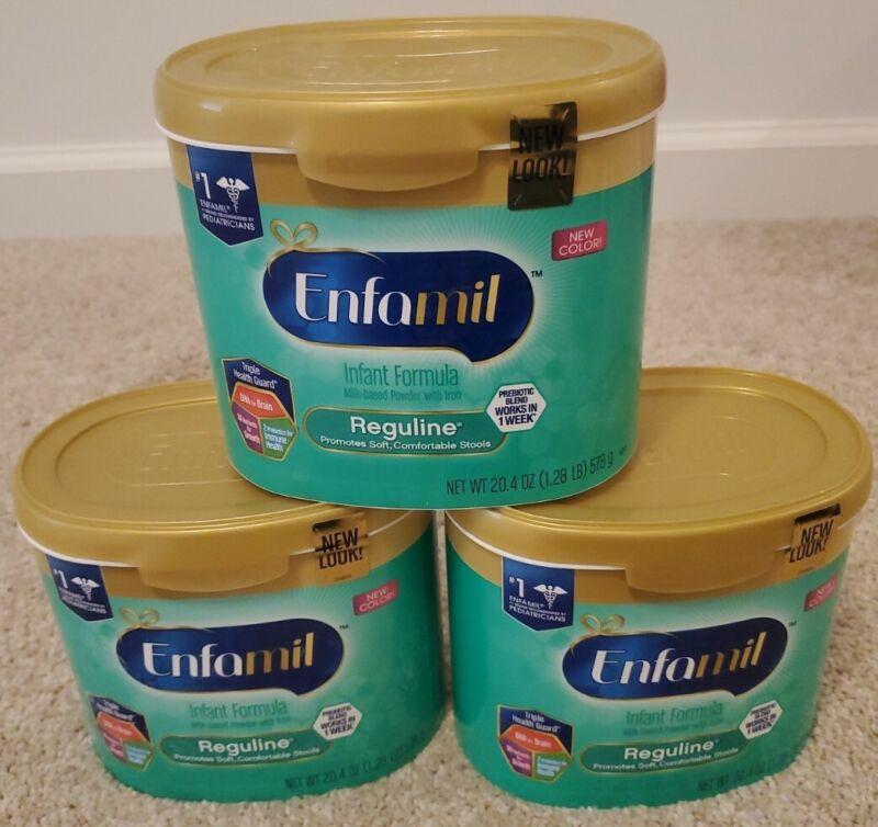 (3) Enfamil Reguline Infant Formula 20.4 oz tubs