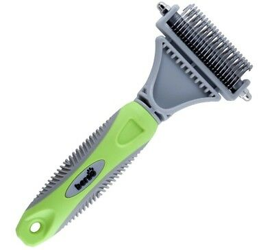 BERSO Best Pet Dematting Comb Tool ~ Great to Brush Medium-Long Hair Dogs &