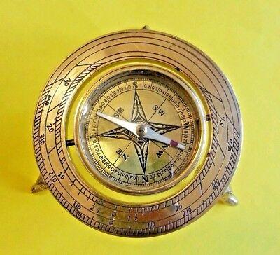 Brass Compass   Nautical Maritime  Antique Vintage Style Compasses