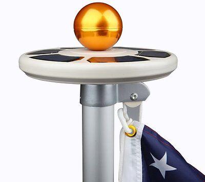 Flag Pole Light LED Solar Brightness Power Flag Pole Sensor Waterproof New