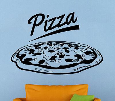 Pizzeria Logo Wall Vinyl Decal Pizza Shop Window Emblem Sticker Art Decor 10pzz - Pizzeria Decor