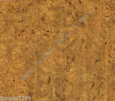 Used, Golden Brown Burl Wood Grain Vinyl Contact Paper Shelf Drawer Liner Peel Stick for sale  Shipping to India
