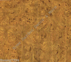 Golden Brown Burl Wood Grain Vinyl Contact Paper Shelf