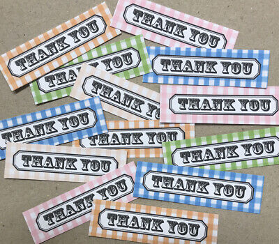 12 THANK YOU Sentiments/Banners Hand Made Card Toppers VINTAGE STYLE (TYV1)