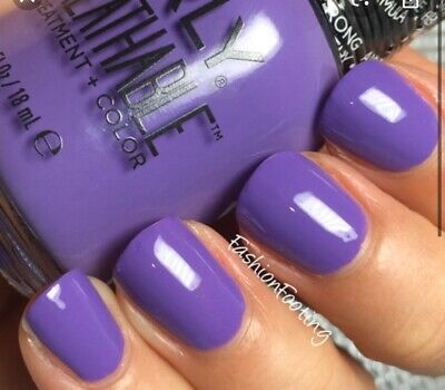 ORLY BREATHABLE Nail Polish + Treatment 0.6 oz - Feeling Free Purple Color Halal
