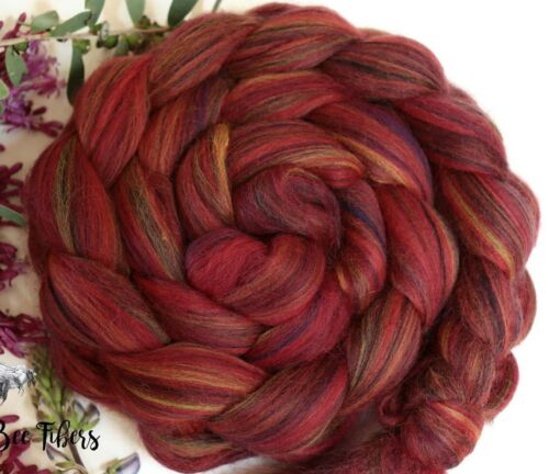 MOJAVE - Merino Wool Roving Color Blend Combed Top Spinning Felting - 4 oz