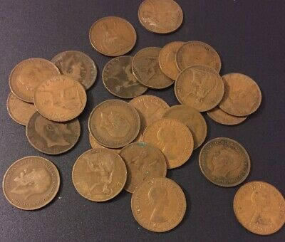 100 British Pennies 1d United Kingdom 1890-1967 Great Britain Large Size UK Coin