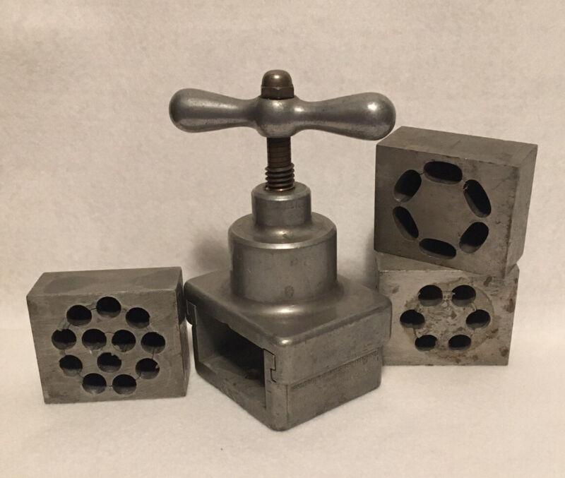 Vintage Applebaum Suppository Machine w 3 Molds Apothecary 1920s