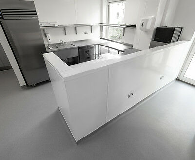 PVC Kitchen and catering hygienic cladding wall sheets 10' x 4' x 2mm