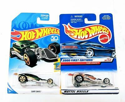 2018 Hot Wheels Surf's Up #4 Surf Crate Green Kmart Exclusive Gold 5sp w bonus