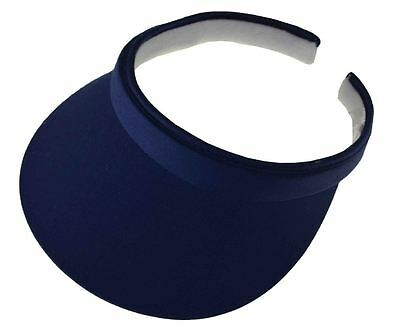 (Cotton Twill Clip-On Visor-navy blue)