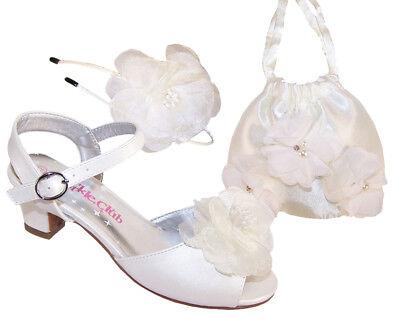 ein funkelnd Sandalen Brautjungfer Blumenmädchen Party Puppe (Mädchen Sandalen Elfenbein)
