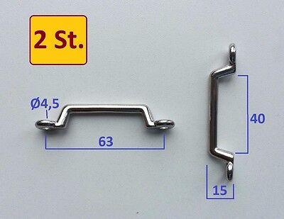 2 Stück Riemen (2 Stück Riemenbügel Edelstahl Inox A2 , Bügel 40mm, Griff, Öse, Riemenbügel)
