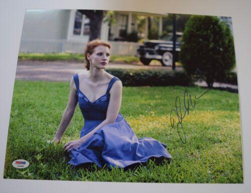 Jessica Chastain Signed Autographed 11x14 Photo ZERO DARK THIRTY PSA/DNA COA VD
