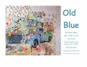 Old Blue Pick Up Truck Laura Heine Fiberworks Fused Collage Art Quilt Pattern