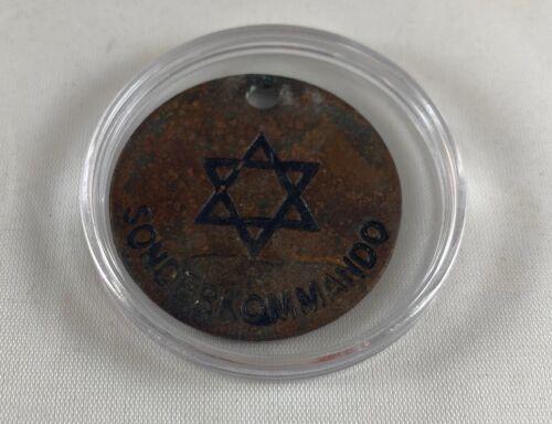 World War II SS Jewish ID Tag Concentration Camp Sonderkommando Medallion WW2