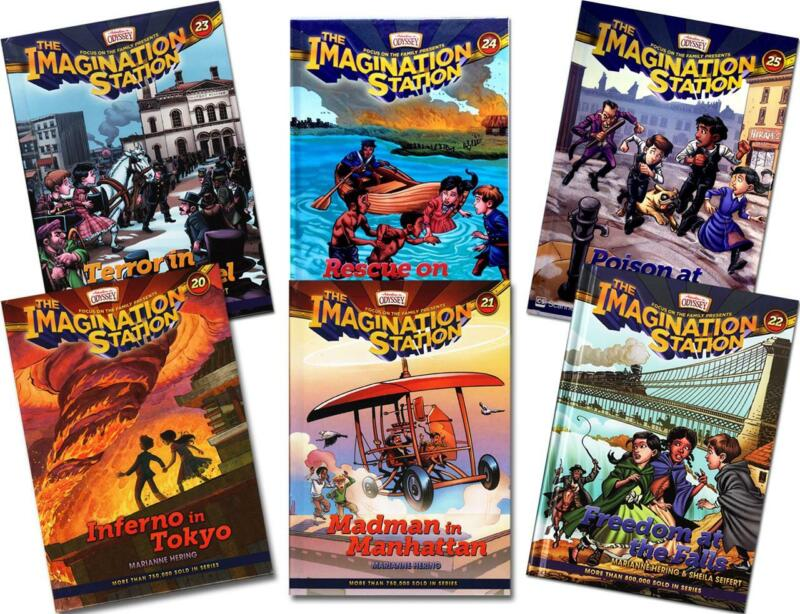 New IMAGINATION STATION SERIES 6 Book Set 20 21 22 23 24 25 Adventures Odyssey