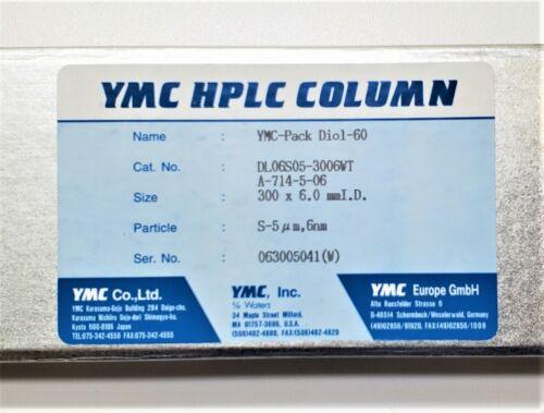 YMC-Pack Diol-60  HPLC Column 5 um  6.0  x 300 mm  #DL06S05-3006WT