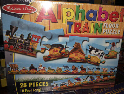 Melissa & Doug Alphabet Train Floor Puzzle 28 pc 20 Feet Long New Sealed
