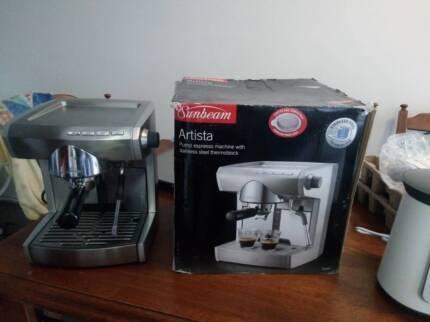 Sunbeam cafe barista em5000 wsunbeam coffee bean grinder coffee sunbeam em5900 coffee machine fandeluxe Image collections